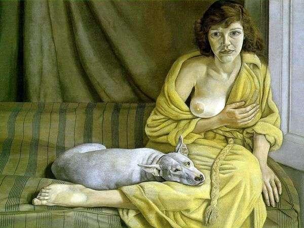 Девушка с белой собакой   Лусьен Фрейд