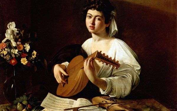 Девушка с лютней   Микеланджело Меризи да Караваджо