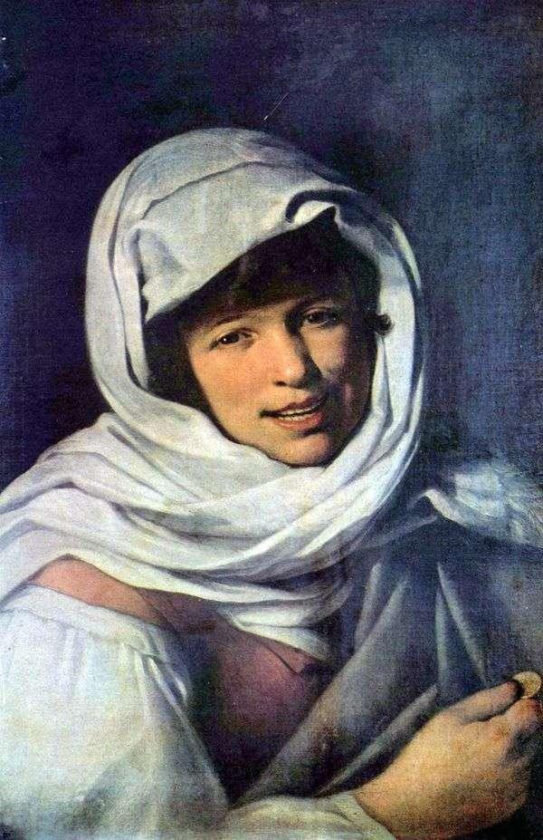 Девушка с монетой (Девушка Галисии)   Бартоломе Эстебан Мурильо