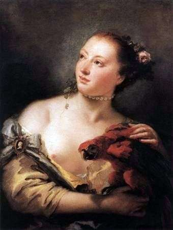 Девушка с попугаем   Джованни Баттиста Тьеполо