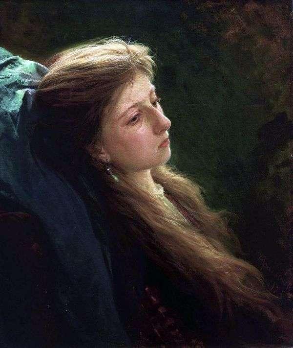 Девушка с распущенной косой   Иван Крамской