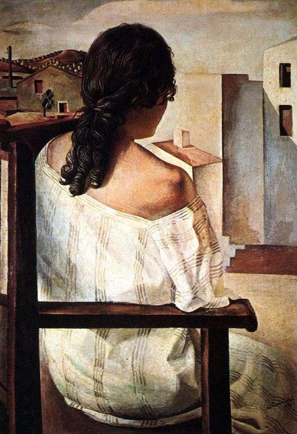 Девушка, сидящая спиной   Сальвадор Дали