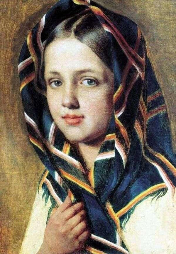 Девушка в платке   Алексей Венецианов