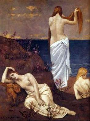 Девушки на берегу моря   Пюви де Шаванн Пьер Сесиль