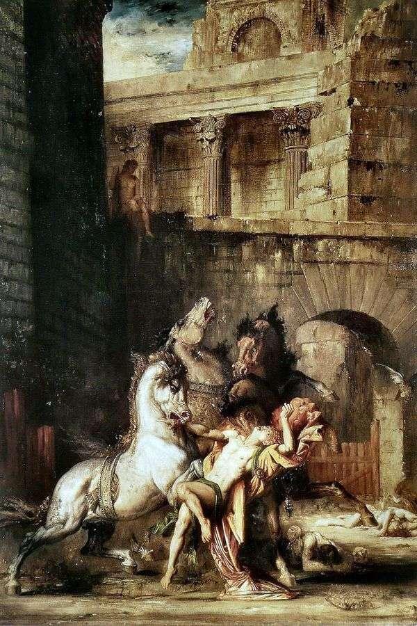 Диомед, пожираемый своими конями   Гюстав Моро
