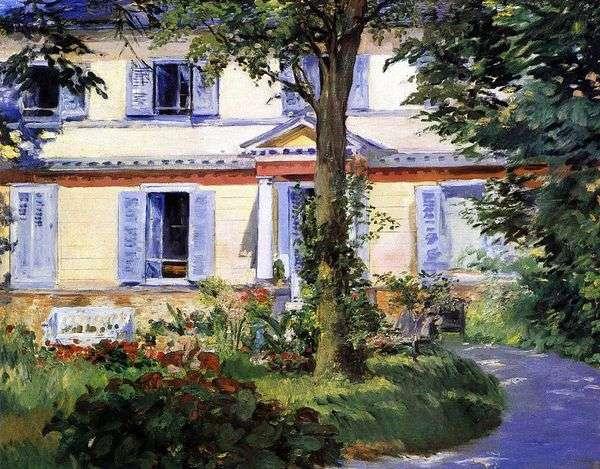 Дом в Рюэле   Эдуард Мане