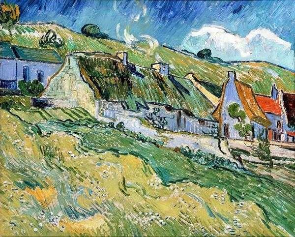 Домики с соломенными крышами   Винсент Ван Гог