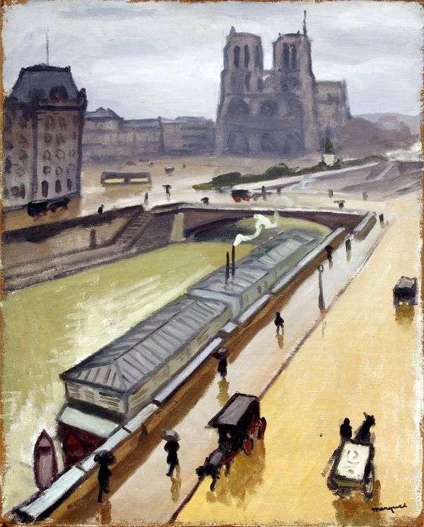 Дождливый день в Париже. Нотр Дам   Альбер Марке