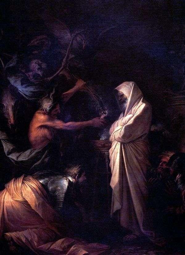 Дух Самуила, призванный к Саулу волшебницей из Аэндора   Роза Сальватор