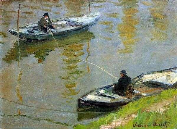 Два рыболова   Клод Моне