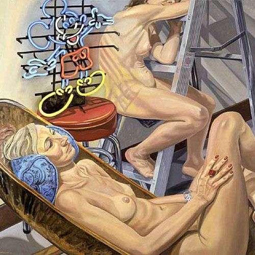 Две модели в компании Микки Мауса   Филип Перлстайн