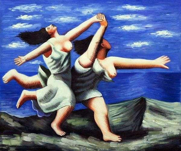 Две женщины, бегущие по пляжу   Пабло Пикассо