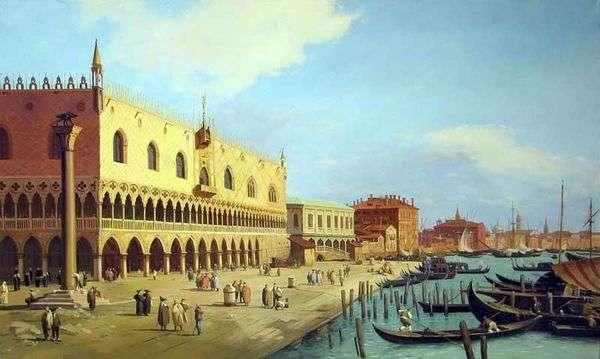Дворец дожей и набережная Скьявони   Антонио Каналетто
