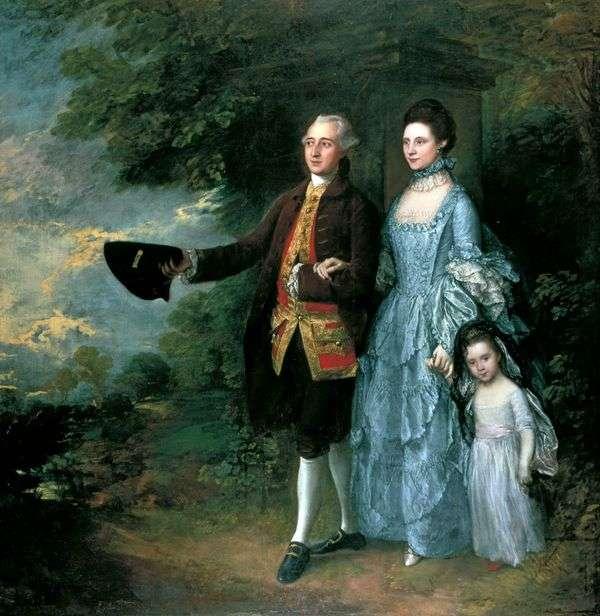 Джордж и Луиза Бим с дочерью Сарой   Томас Гейнсборо