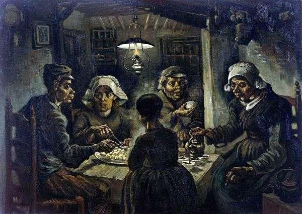 Едоки картофеля   Винсент Ван Гог