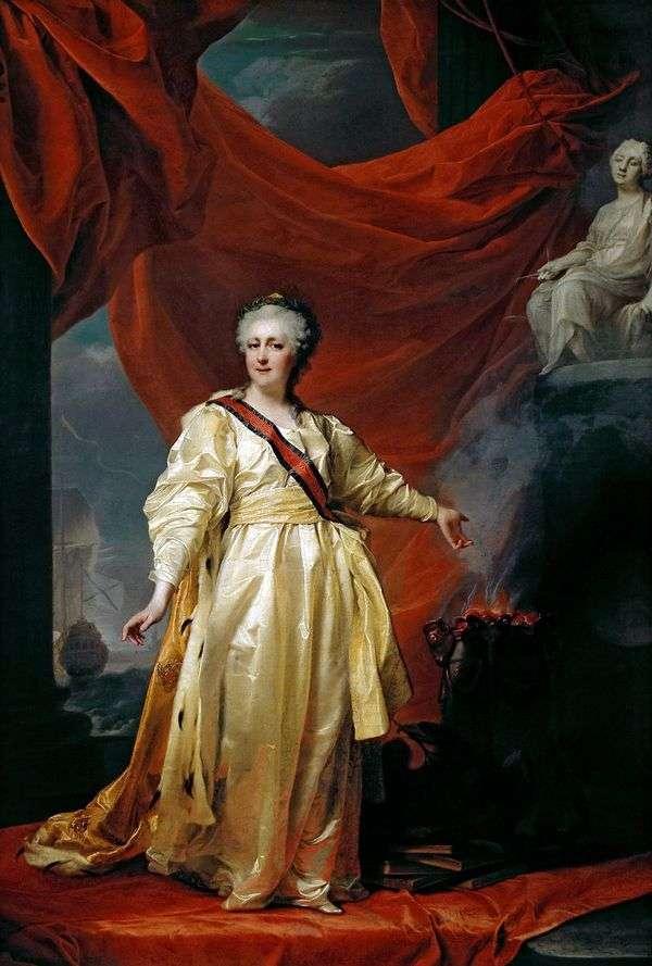 Екатерина II   законодательница в храме богини правосудия   Дмитрий Левицкий