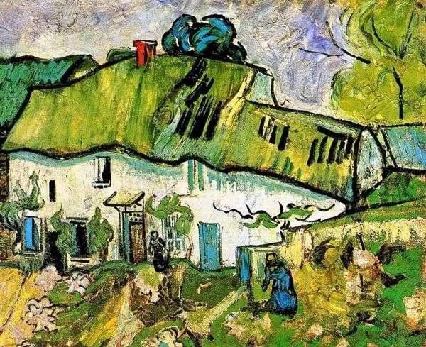 Фермерский дом с двумя фигурами   Винсент Ван Гог