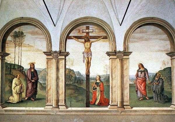 Фресковой триптих Распятие   Пьетро ди Христофоро Вануччи Перуджино