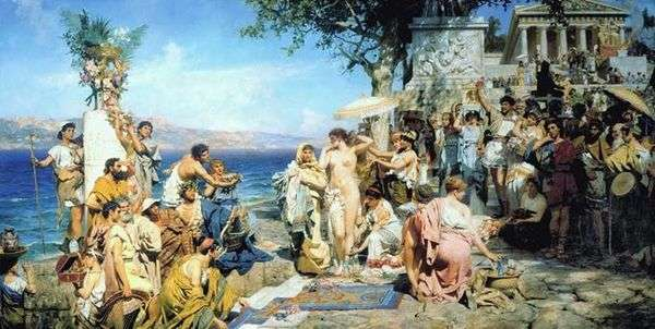 Фрина на празднике Посейдона в Элевсине   Генрих Семирадский