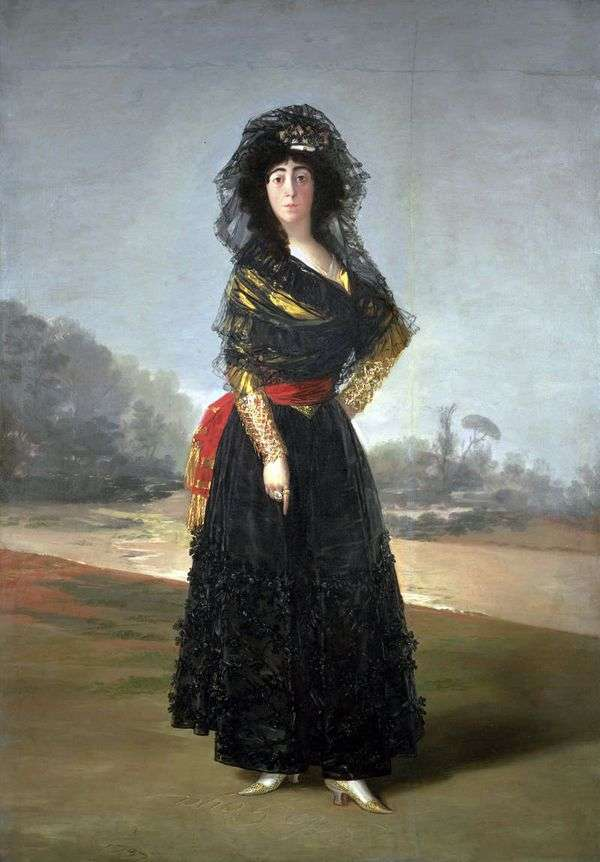 Герцогиня Альба в черном   Франсиско де Гойя
