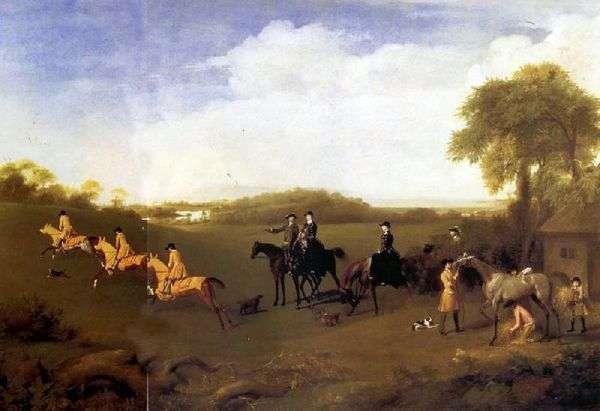 Герцогиня Ричмондская и леди Леннокс, наблюдающие за выездкой герцога   Джордж Стаббс