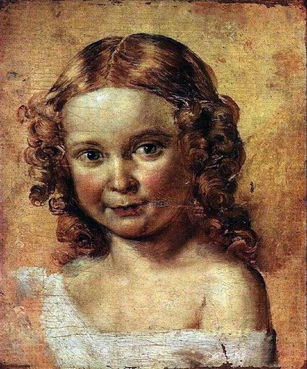 Голова девочки (Этюд к портрету Ершовой с дочерью)   Василий Тропинин