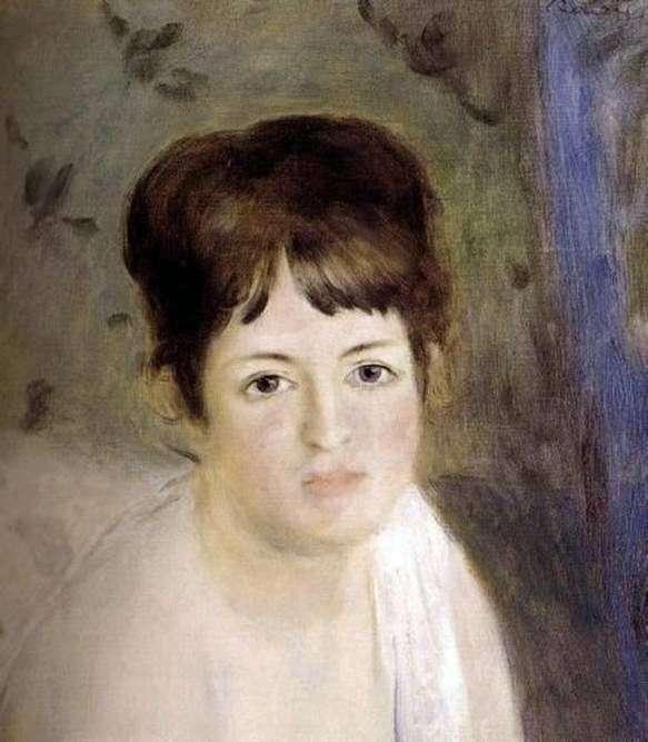 Голова женщины   Пьер Огюст Ренуар