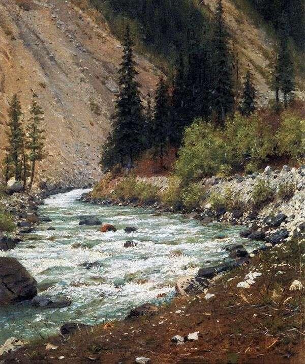 Горный ручей в Кашмире   Василий Верещагин