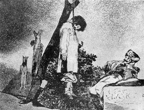Гравюры Капричос (Капризы) Ужасы войны   Франсиско де Гойя