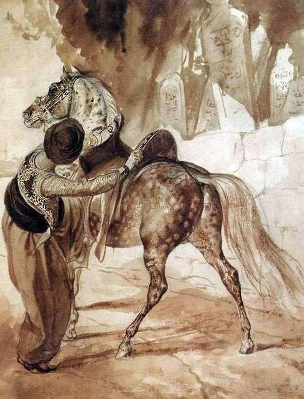 Грек с лошадью   Карл Брюллов