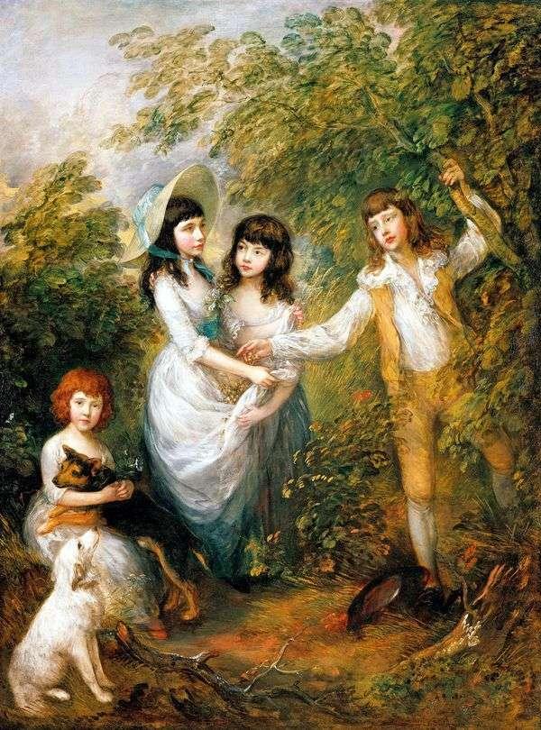 Групповой портрет детей Маршам   Томас Гейнсборо