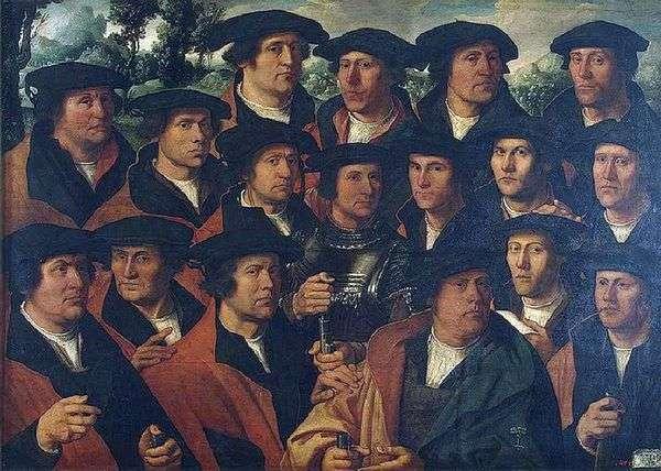 Групповой портрет корпорации амстердамских стрелков   Якобс Дирк&;amp;;nbsp