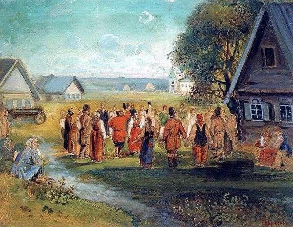 Хоровод в селе   Алексей Саврасов