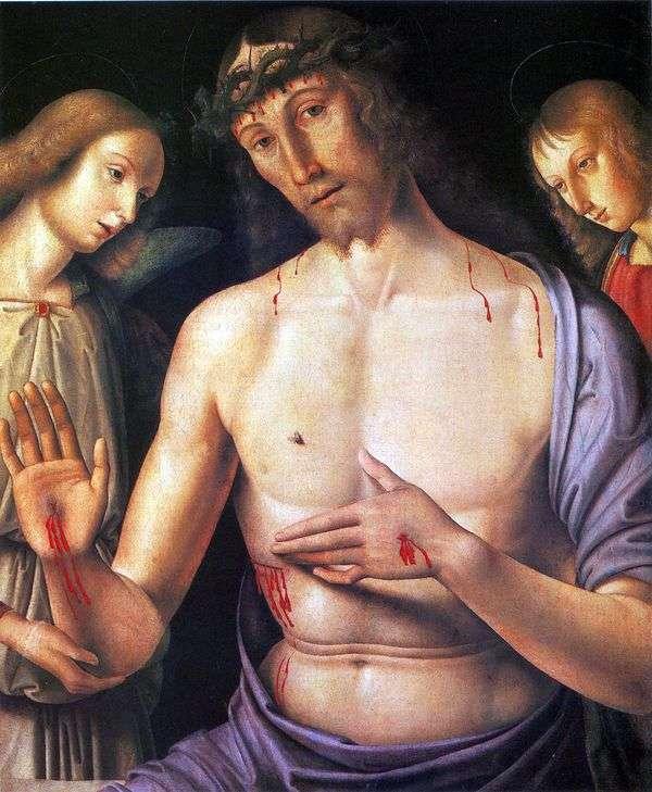 Христос с двумя ангелами   Джованни Санти