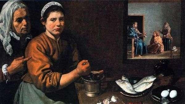 Христос в доме Марфы и Марии   Диего Веласкес