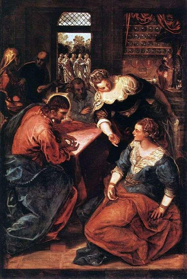 Христос в доме Марфы и Марии   Якопо Тинторетто