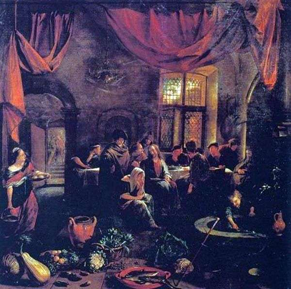 Христос в доме Марфы и Марии   Ян Стен