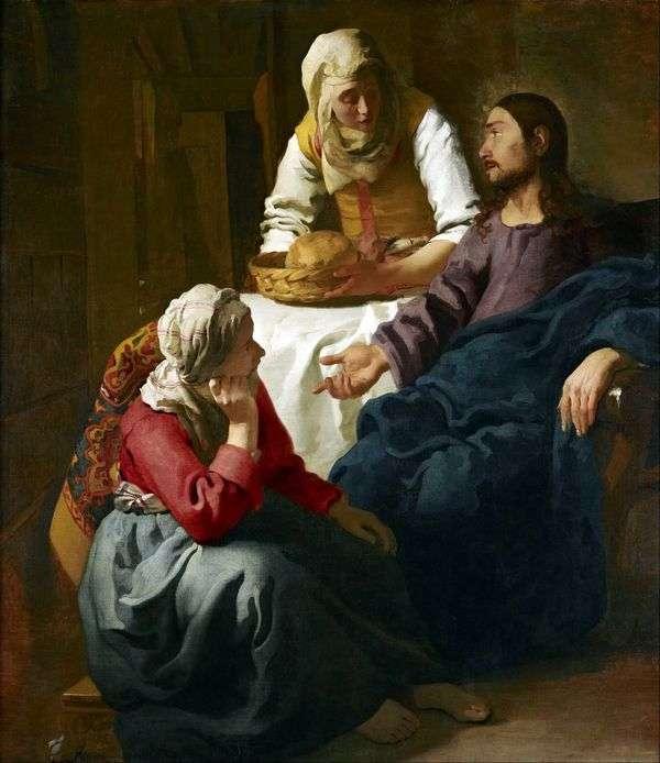 Христос в доме Марфы и Марии   Ян Вермеер