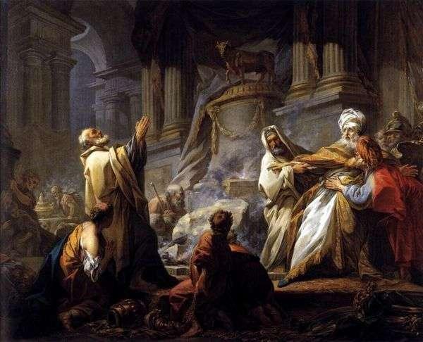 Иеровоам приносит жертву идолам   Жан Оноре Фрагонар