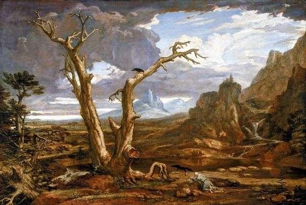 Илия в пустыне   Олстон Вашингтон