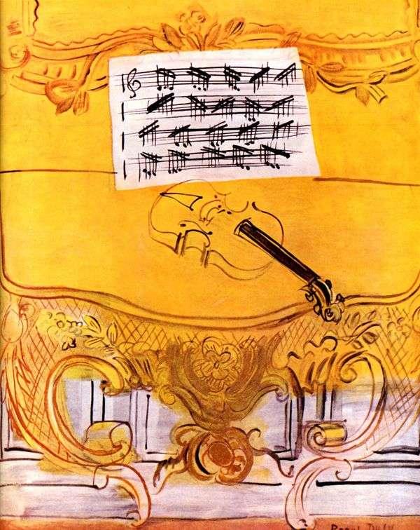 Желтая фисгармония со скрипкой   Рауль Дюфи