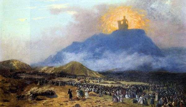Моисей на горе Синай   Жан Леон Жероме