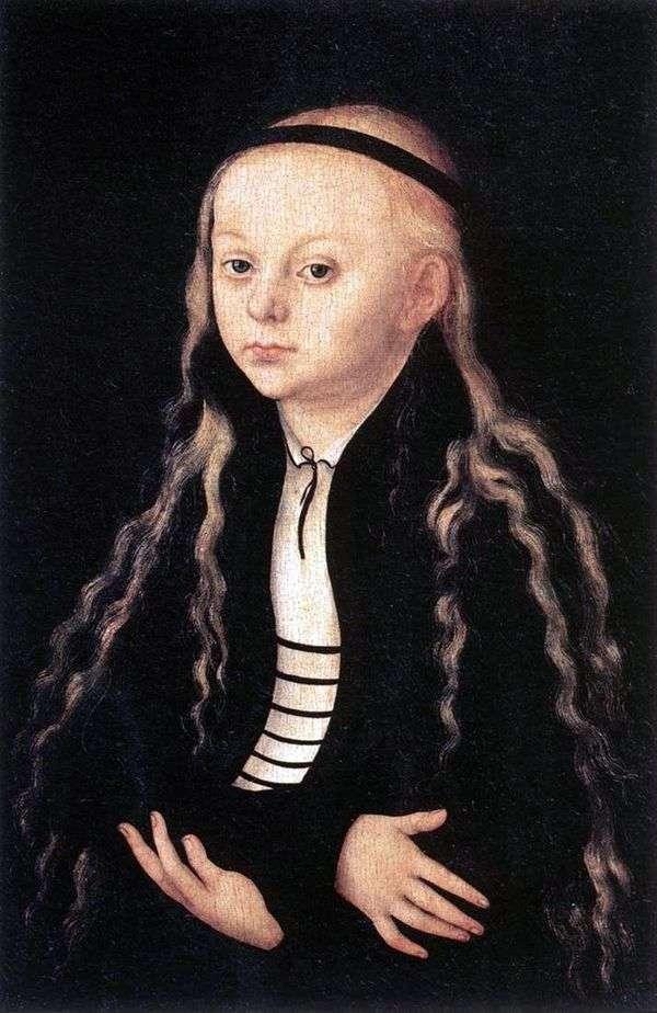 Портрет Магдалены Лютер   Лукас Кранах