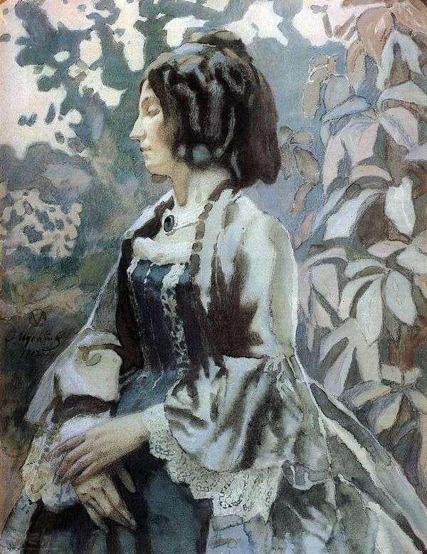Женщина в голубом   Виктор Борисов Мусатов