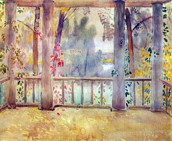 На балконе в Тарусе   Виктор Борисов Мусатов