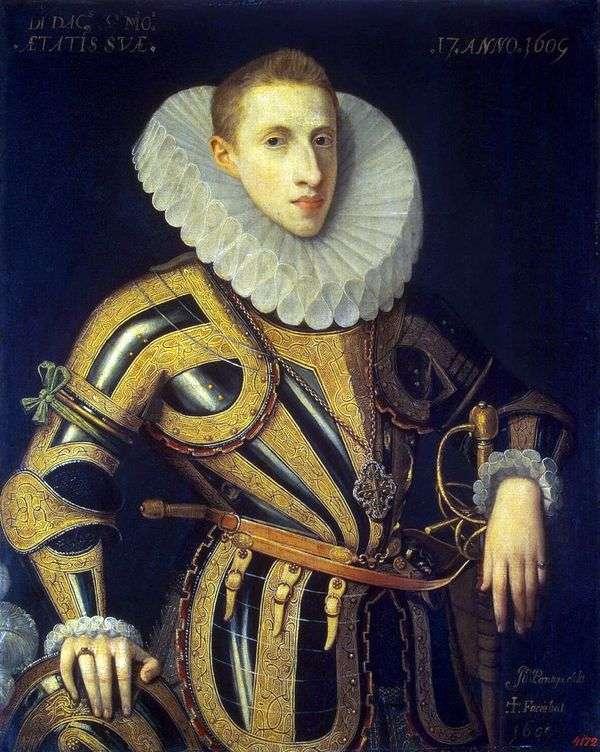 Портрет Диего де Вильямайора   Хуан Пантоха де ла Крус