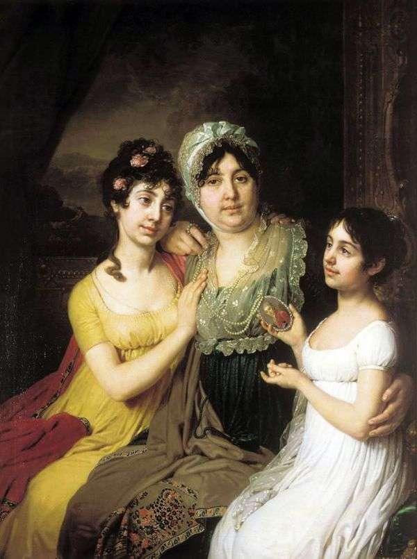 Портрет A. И. Безбородко с дочерьми   Владимир Боровиковский