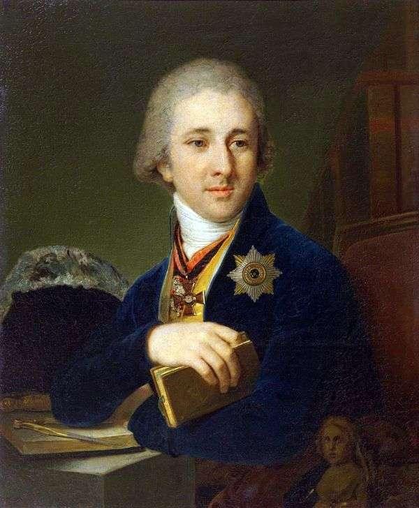 Портрет писателя, масона Александра Федоровича Лабзина в синем кафтане   Владимир Боровиковский