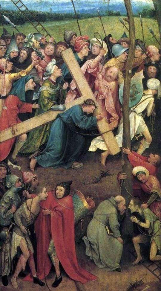 Несение креста на Голгофу   Иероним Босх