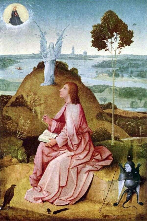 Святой Иоанн Богослов на острове Патмос   Иеронимус Босх